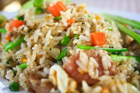 Close-up of delicious fried rice  Fried rice