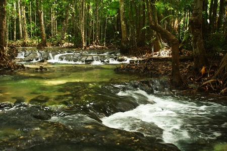 Water was flowing  photo