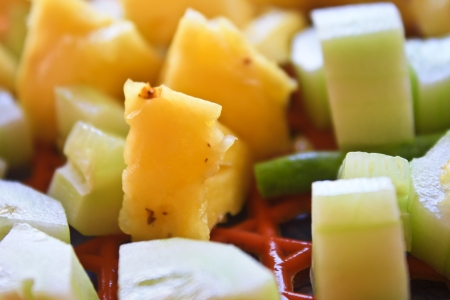 Close up piece of Pineapple Stock Photo - 19910002
