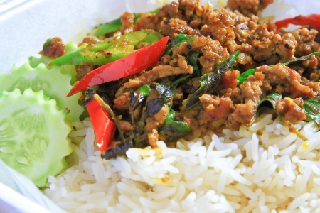 Thai spicy food with pork  photo