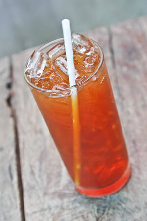 thirst quenching: Glass of ice tea