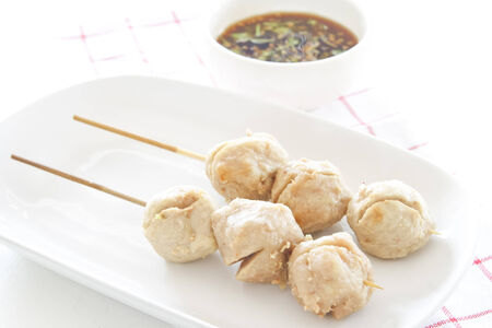 Thai style fried fish ball. photo