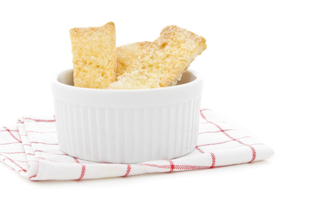 Bread in white cup. photo
