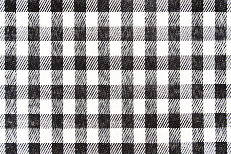 Black and white tablecloth fabric texture and seamless background. photo