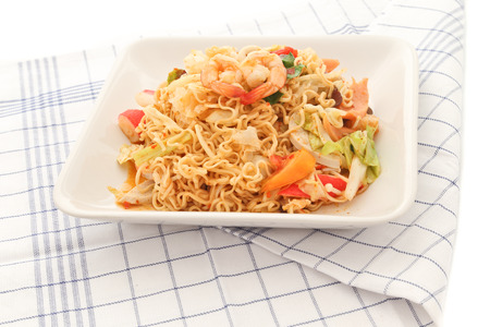 Thai spicy seafood nooddle.
