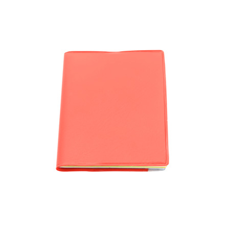 hardcover: Blank red hardcover book isolated on white background