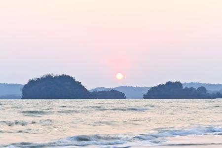 sunsets: Sunsets at Ao Nang Krabi in Thailand.