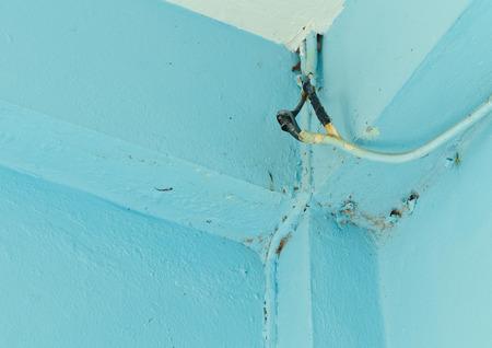 damaged: Damaged wiring.