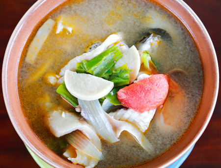 Tom Yum Soup, Thai spicy food. Stock Photo