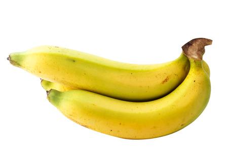 Banana fruits on white background.