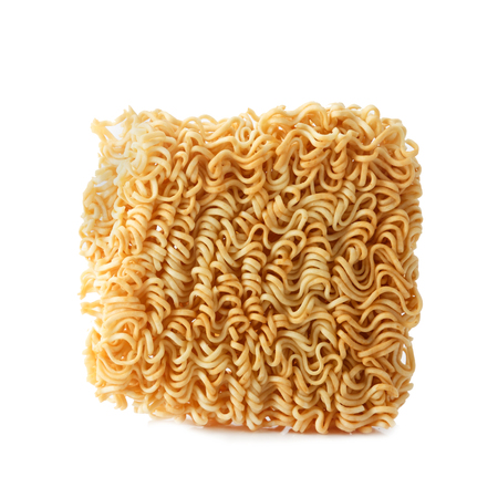 Instant Noodles on white background.