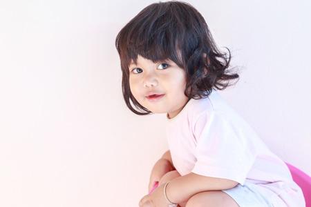Cute smiling baby girl.