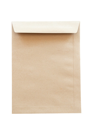 Brown envelope isolate on white background.