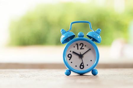 Retro clock alarm Stock Photo
