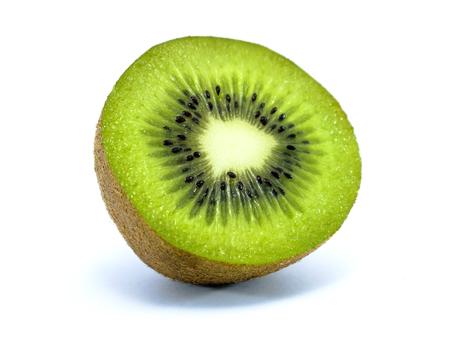 Juicy kiwi fruit isolated on white background, with Clipping path