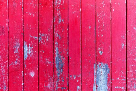 Wood board. Vintage red color painted wood wall as background or texture, Natural pattern. Blank copy space.