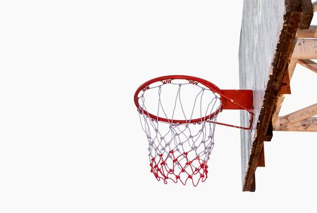 Basketball hoop isolated on a white background. File contains with clipping path. 免版税图像