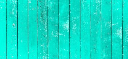 Wood board. Vintage green color painted wood wall as background or texture, Natural pattern. Blank copy space.