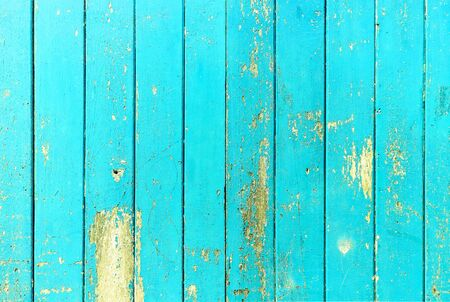 Vintage wood board blue color painted wood wall as background or texture, Natural pattern. Blank copy space. 免版税图像