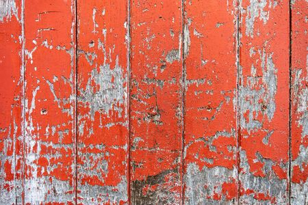 Vintage wood board orange color painted wood wall as background or texture, Natural pattern. Blank copy space. 免版税图像