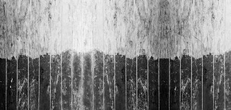 Vintage black and white color painted wood wall as background or texture, Natural pattern. Blank copy space.