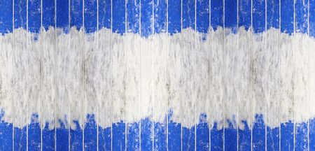 Vintage wood board blue and white color painted wood wall as background or texture, Natural pattern. Blank copy space.
