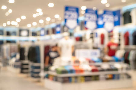 Abstract blurred and defocused clothing store at Shopping mall of department store for background Standard-Bild