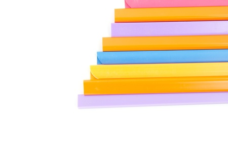 spines: colorfull book spine isolate Stock Photo