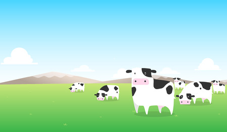 cow milk on green field