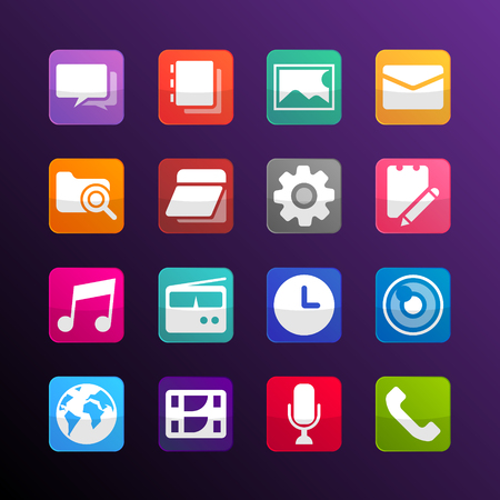 mobilephone: colorful icon for mobilephone