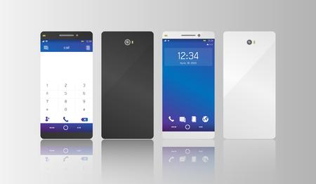 smart phone: smart phone model illustration