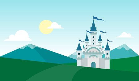 rockies: mountain landscape and the castle wallpaper