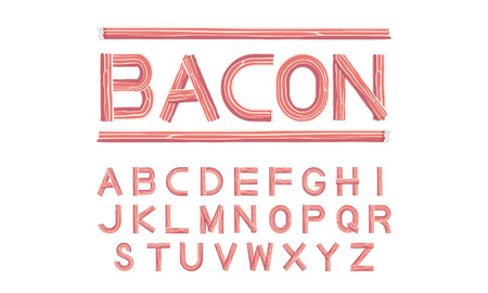 bacon font uppercase illustration Illustration