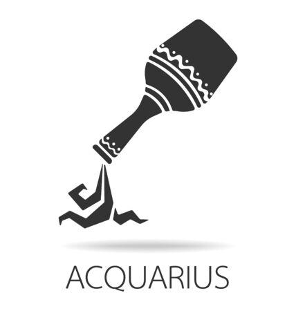 Aquarius zodiac sign vector illustration