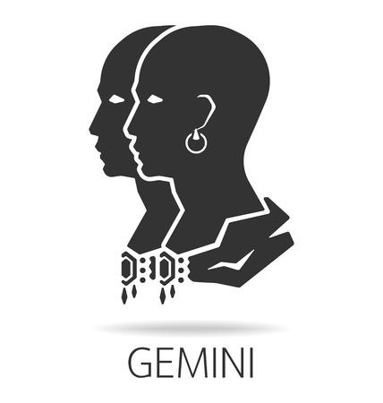 gemini zodiac: Gemini zodiac sign vector illustration