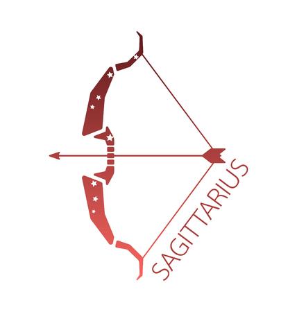 signes du zodiaque: Sagittaire zodiaque �toile signe vecteur illstration
