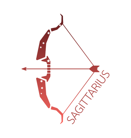 zodiacal symbol: Sagittarius zodiac star sign vector illstration