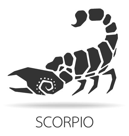 poison symbol: Scorpio zodiac sign vector illustration