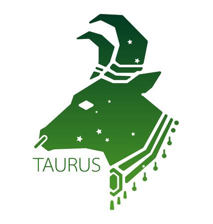 zodiacal symbol: Taurus zodiac star sign vector illustration Illustration