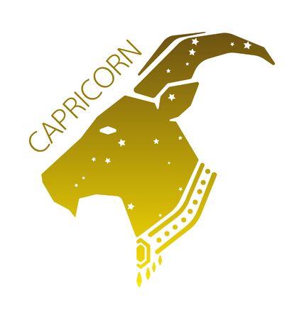 Capricorn zodiac star sign vector illustration