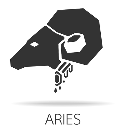 aries zodiac: aries zodiac sign vector illustration Illustration