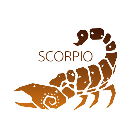 zodiacal symbol: Scorpio zodiac star sign vector illustration