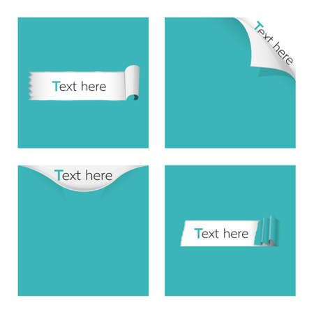 torn and ripped paper for text vector illustration