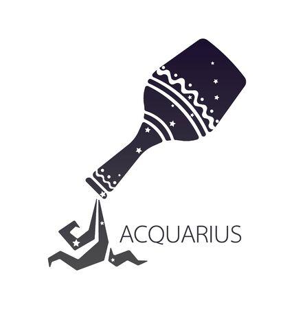 signes du zodiaque: Aquarius zodiaque �toile signe illustration vectorielle