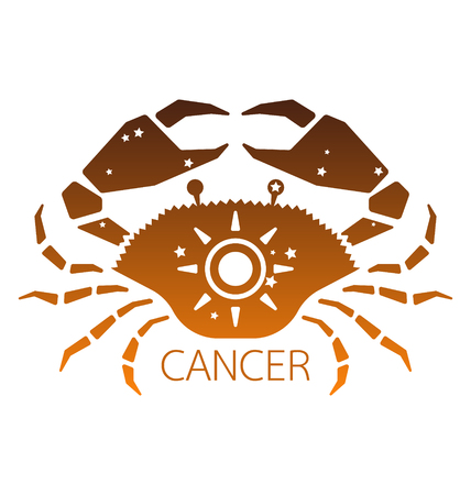 zodiacal symbol: Cancer zodiac star sign vector illustration