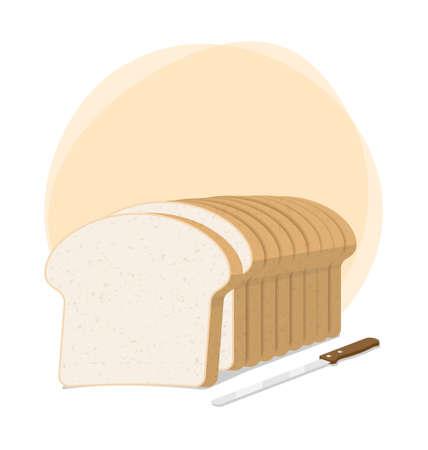 brood brood en brood mes vector illustratie Stock Illustratie