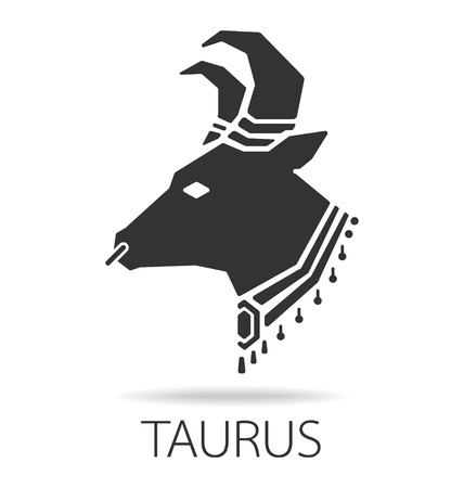 Taurus zodiac sign vector illustration