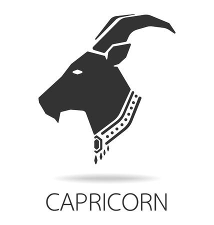 signes du zodiaque: Capricorne signe du zodiaque illustration vectorielle