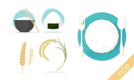 rice of each cuture vector illustration Illustration