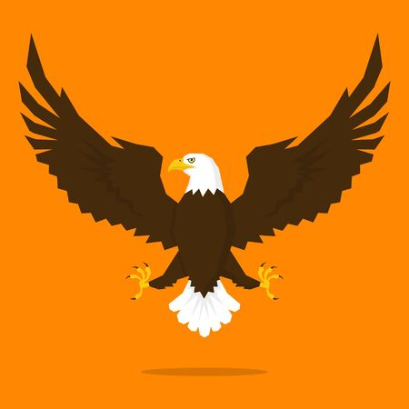 Rise of the pride eagle vector illustration